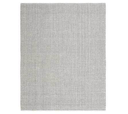 Chunky Natural Wool & Jute Rug, 9'x12', Gray/Ivory - Pottery Barn