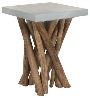 Hartwick Branched Side Table - Grey/Natural - Arlo Home - Arlo Home