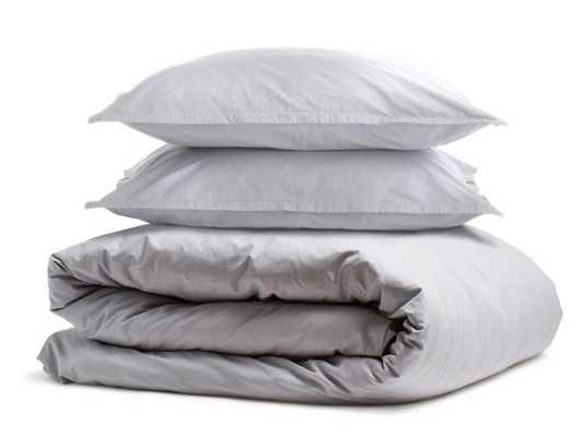 Full/Queen Percale Duvet Cover Set in Light Grey - Parachute