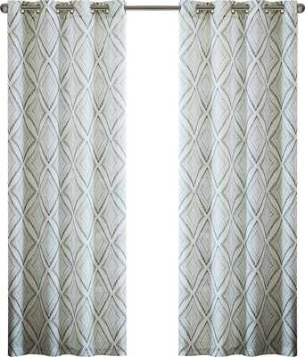 BUNGALOW PRINTED ETCHED DIAMOND SINGLE CURTAIN PANEL - AllModern
