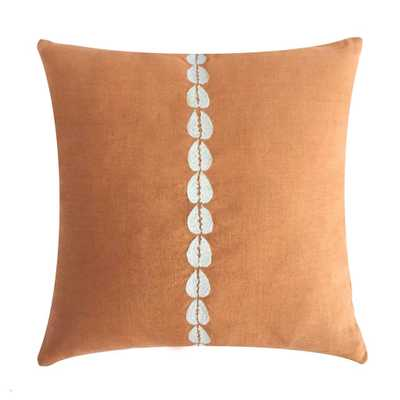 COWRIE EMBROIDERED PILLOW IN CLAY - PillowPia