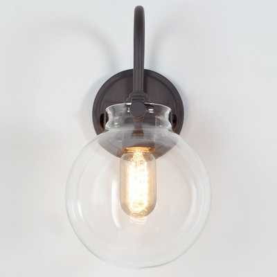 Retro Glass Globe Wall Sconce - Shades of Light