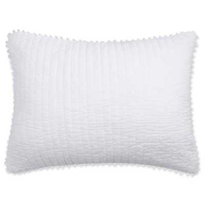 Levtex Home Pom Pom KING Pillow Sham in White - Bed Bath & Beyond