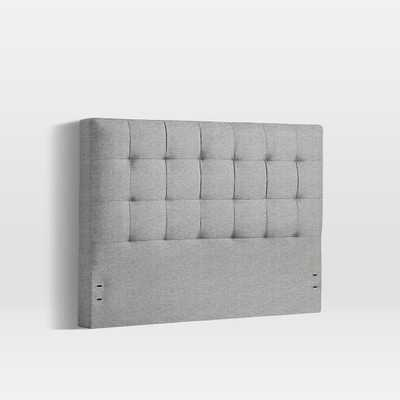 Grid Tufted Headboard, King, Deco Weave, Feather Gray - West Elm