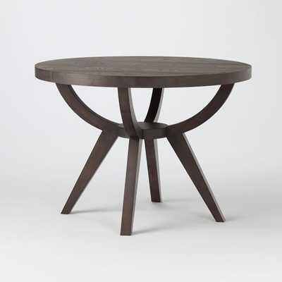 "Arc Base Pedestal Table 42"", Smoke - West Elm"