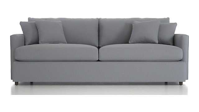 """Lounge II 93"""" Sofa- Action, Stone - Crate and Barrel"""
