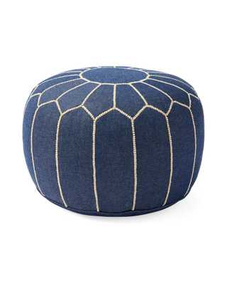 Moroccan Denim Pouf - Serena and Lily