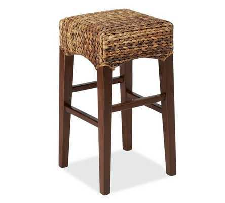 Seagrass Backless Barstool, Counter Height, Havana Dark - Pottery Barn