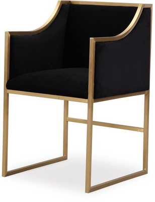 Eleanor Black Velvet Lilly Chair - Maren Home