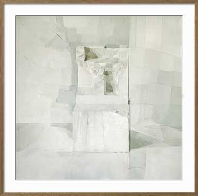 "White - Framed Print in Espresso Frame (16""x16"" print & Finished Size: 19.5"" x 19.0"") - art.com"