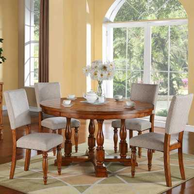 Sayles Solid Wood Dining Table - Wayfair