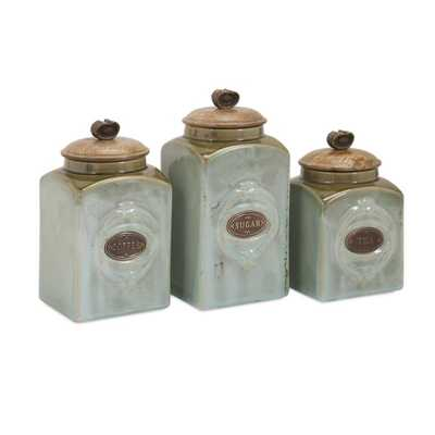 Addison Ceramic Canisters - Set of 3 - Mercer Collection