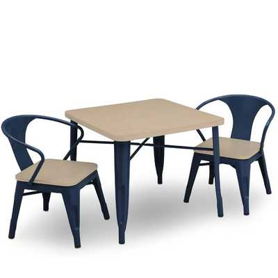Glastonbury Kids 3 Piece Writing Table and Chair Set- NAVY - Wayfair