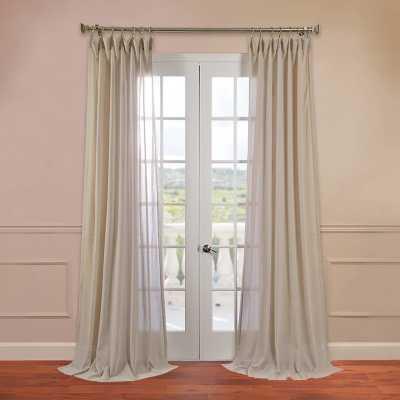 Cristopher Solid Sheer Rod Pocket Single Curtain Panel (tumbleweed) - Wayfair