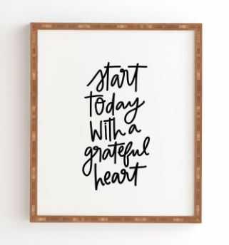A GRATEFUL HEART - Wander Print Co.