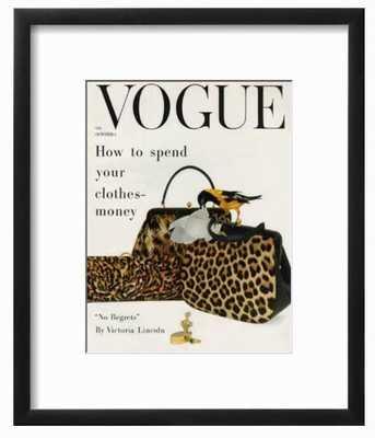 "Vogue Cover - October 1958 - Animal Accessories - 9"" x 12"" - art.com"