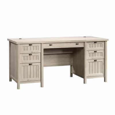 Campbell Executive Desk / Chalked Chestnut - Wayfair