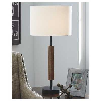 "Bittinger Wood 26.5"" Table Lamp Set of 2 - Wayfair"