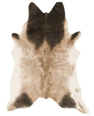 WINSLEY FAUX COWHIDE RUG, TAN AND ESPRESSO - Lulu and Georgia