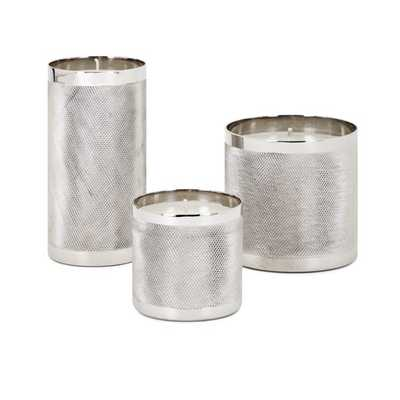 Catena Wax Filled Candleholders - Set of 3 - Mercer Collection