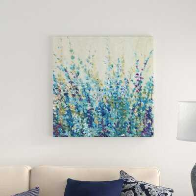 'Shades of Blue I' Painting on Canvas - Wayfair