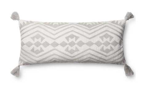 MARIN LUMBAR PILLOW, WHITE AND GRAY - Lulu and Georgia