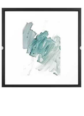 "brushstrokes 11 aquamarine Framed Art Print 22x22"" Vector black frame - Society6"
