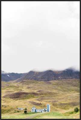"Farmhouse Framed Art Print Final Framed Size: 16.5"" x 24.5"" - Contemporary Matte Black Metal Frame/ No Matte - Artfully Walls"