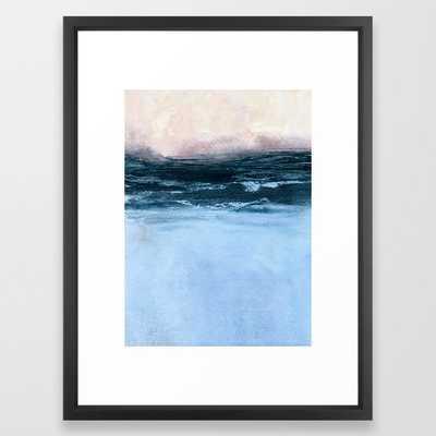 "Misty sunrise Framed Art Print 65 by Iris Lehnhardt-  20"" X 26""- Vector Black - Society6"