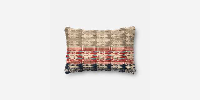 """PILLOWS - RED / BLUE - 13"""" X 21"""" Cover w/Poly - Loma Threads"""