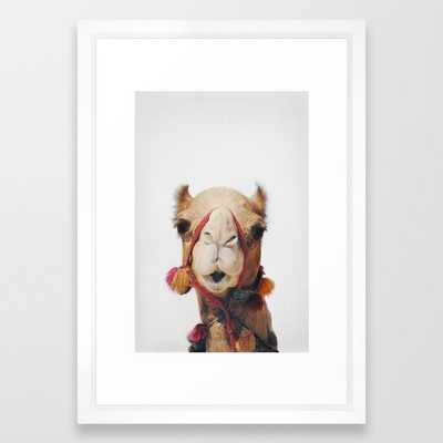 Camel Framed Art Print - Society6