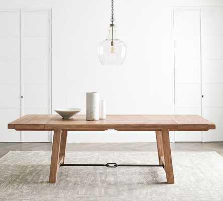 "Benchwright Extending Dining Table, Medium 74"" - 104"" L, Seadrift - Pottery Barn"