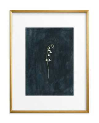 """remember: lily of the valley - 18"""" x 24"""" - Gilded Wood Frame - Matted - Minted"""