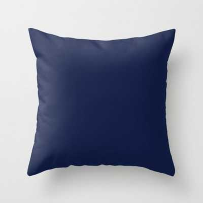 """Indigo Navy Blue Throw Pillow - 20"""" x 20"""" Cover with Insert - Society6"""