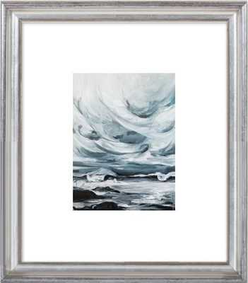 "Stormy Skies by Brynn W Casey - 8""x10"" Framed Art Print with Matte - Silver Leaf Wood, frame width 1.25"", depth 1.25"" - Artfully Walls"