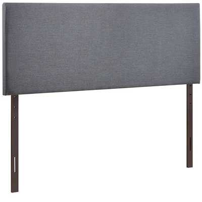 REGION QUEEN UPHOLSTERED FABRIC HEADBOARD IN SMOKE - Modway Furniture