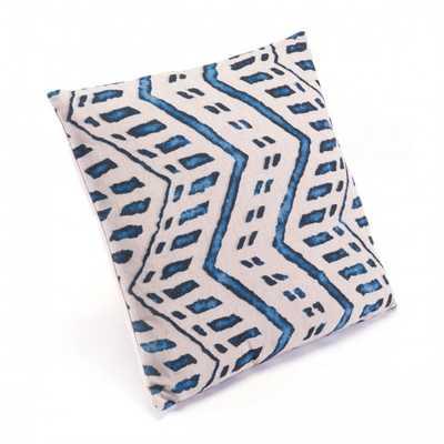 Ikat Pillow 2 Blue & Natural - Zuri Studios