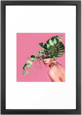 "Lady Flowers VI Framed Art Print - vector black 15"" x 21"" by Linco7n - Society6"