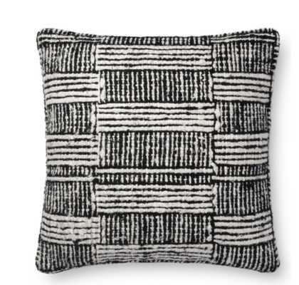 JUSTINA BLAKENEY DENAE PILLOW, BLACK AND WHITE - Lulu and Georgia