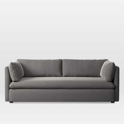 Shelter Sofa, MARLED MICROFIBER, HEATHER GRAY - West Elm
