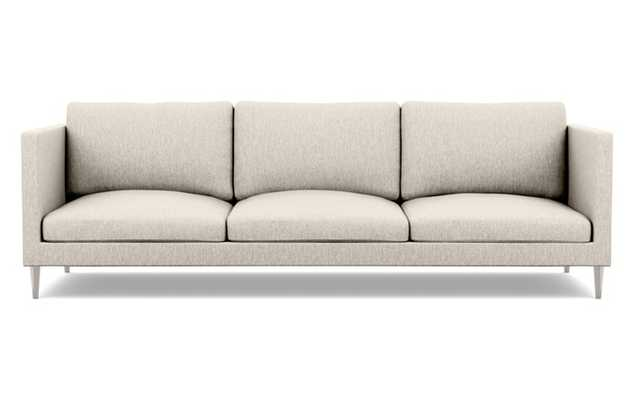 Oliver Sofa with Wheat Fabric and brushed nickel legs - Interior Define