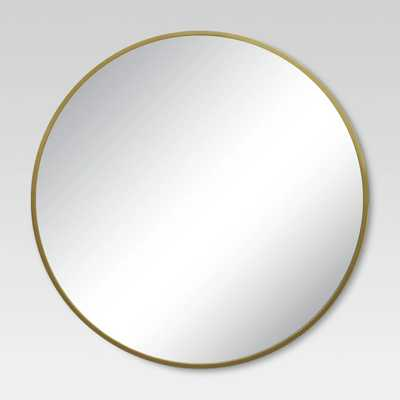 Round Decorative Wall Mirror Brass - Project 62 - Target