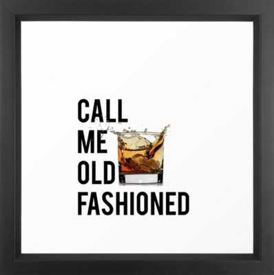 Call Me Old Fashioned Print,BarDecorations,Party Print,Printable Art,Alcohol Gift,Old Fashioned,Home Framed Art Print 12 x 12 - Society6