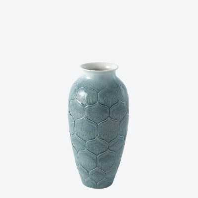 Lady Lo's Teal Ceramic Table Vase - Perigold