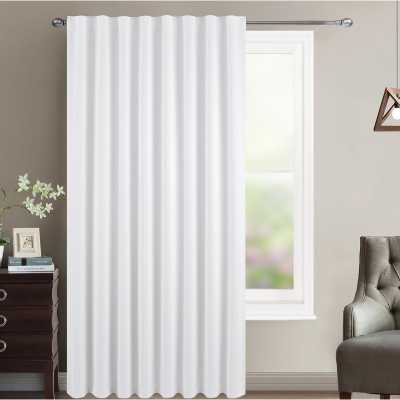 Sheila Solid Blackout Thermal Rod Pocket Single Curtain Panel - Wayfair