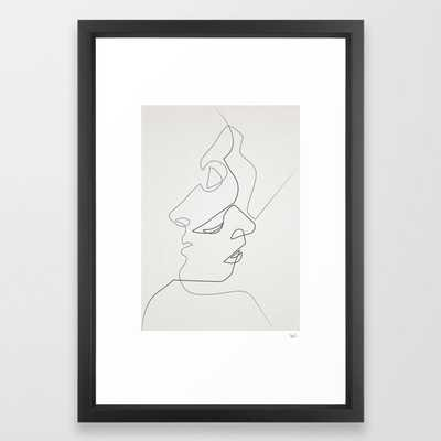 Close Framed Art Print - Society6