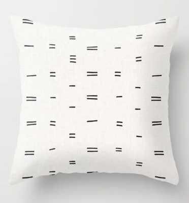 "Hammah Mudcloth Pillow 20"" Indoor - Society6"