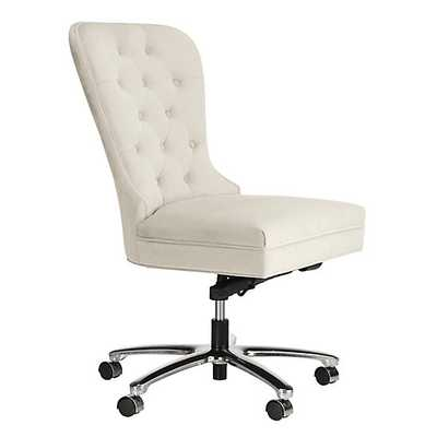 Charlotte Desk Chair - Bella Pearl - No Nailheads - Z Gallerie