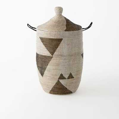 Graphic Woven Baskets - Black/White - Large - West Elm