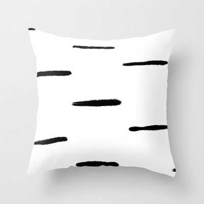 Indu Black and White Throw Pillow - Society6